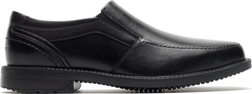 Men's Rockport Style Leader 2 Moc Toe Slip On, Black Leather, large, image 2