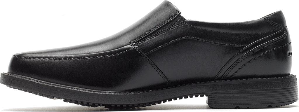 Men's Rockport Style Leader 2 Moc Toe Slip On, Black Leather, large, image 3