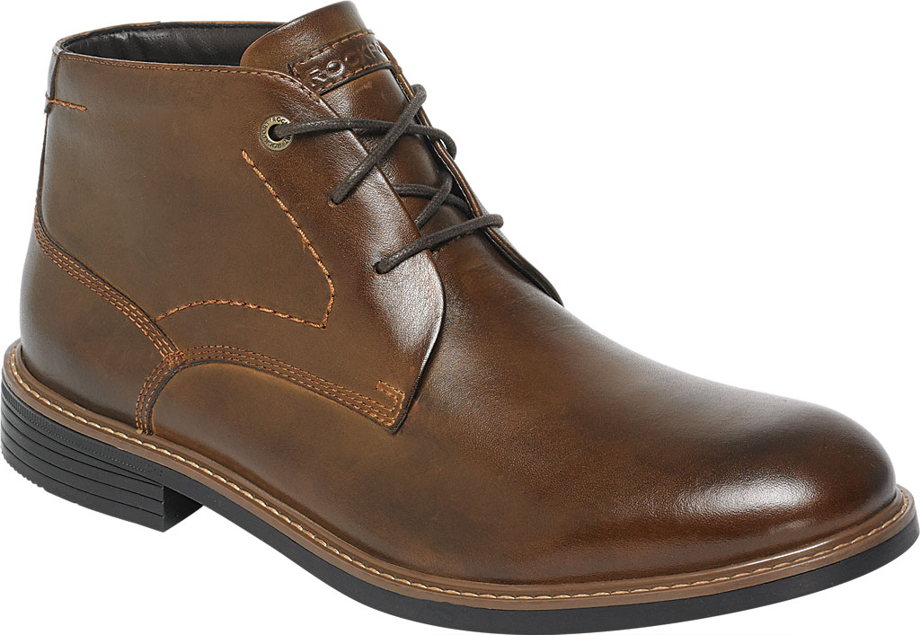 Men's Rockport Classic Break Chukka Boot, Dark Brown Leather, large, image 1