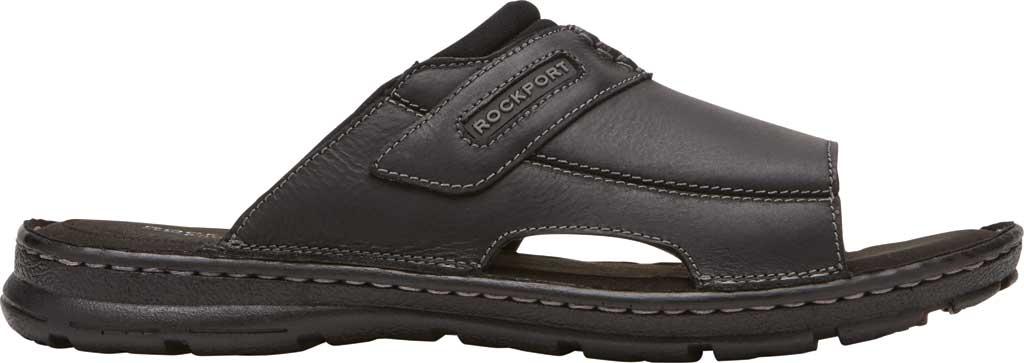 Men's Rockport Darwyn 2 Slide, Black II Leather, large, image 2