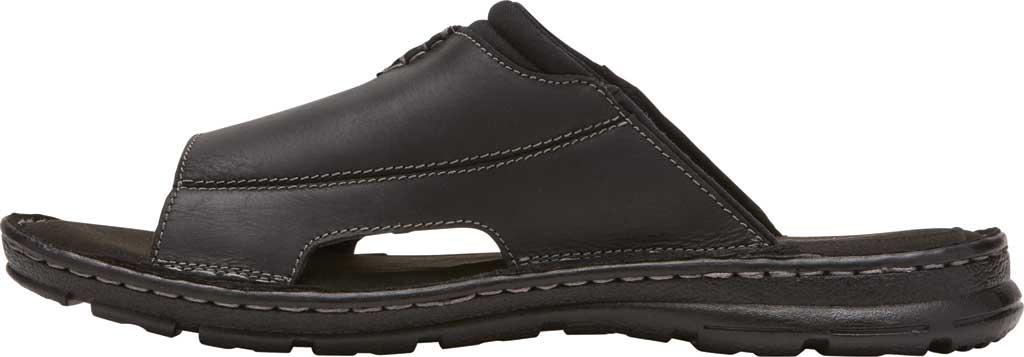 Men's Rockport Darwyn 2 Slide, Black II Leather, large, image 3