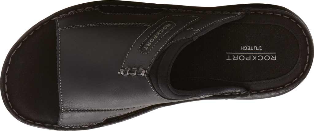 Men's Rockport Darwyn 2 Slide, Black II Leather, large, image 4