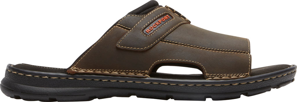 Men's Rockport Darwyn 2 Slide, Brown II Leather, large, image 2