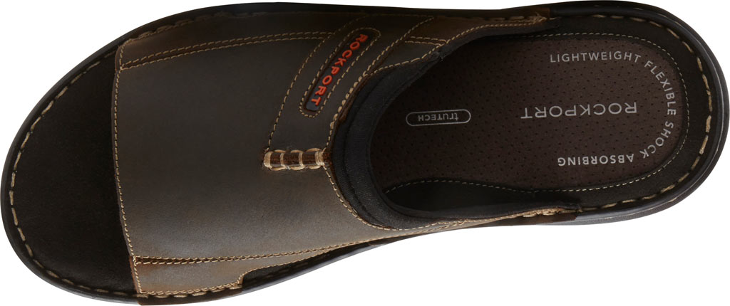Men's Rockport Darwyn 2 Slide, Brown II Leather, large, image 4