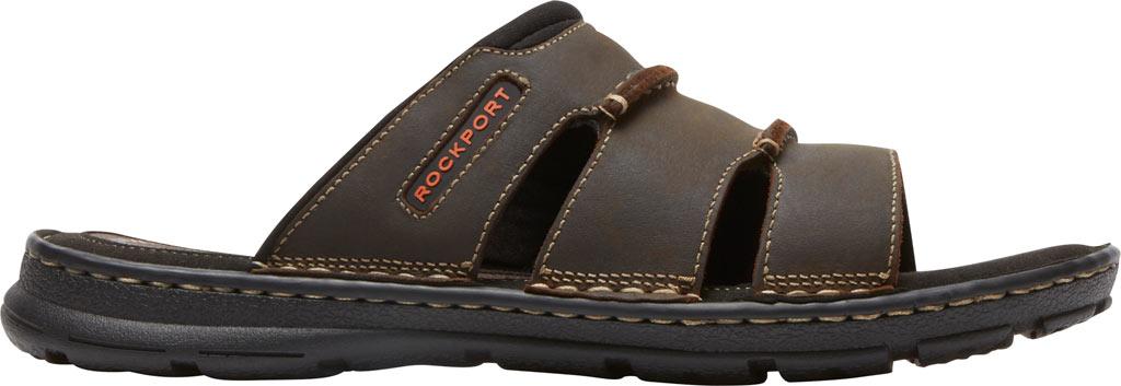 Men's Rockport Darwyn Slide, Brown II Leather, large, image 2