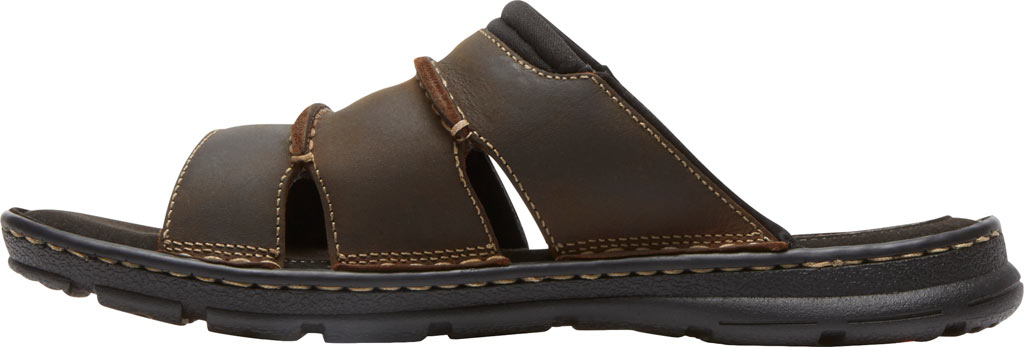 Men's Rockport Darwyn Slide, Brown II Leather, large, image 3