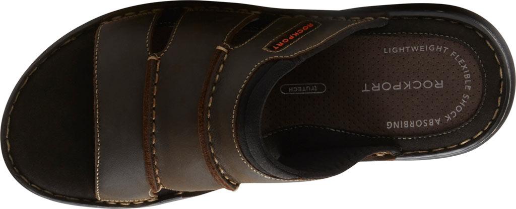 Men's Rockport Darwyn Slide, Brown II Leather, large, image 4