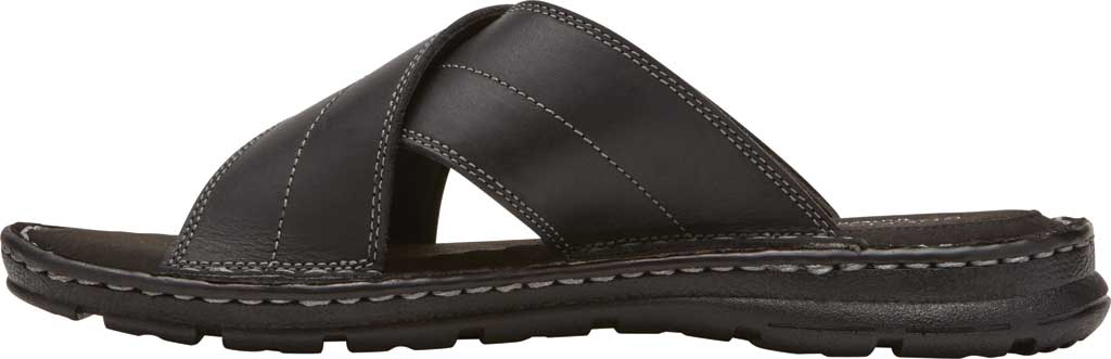 Men's Rockport Darwyn Xband Slide, Black II Leather, large, image 3
