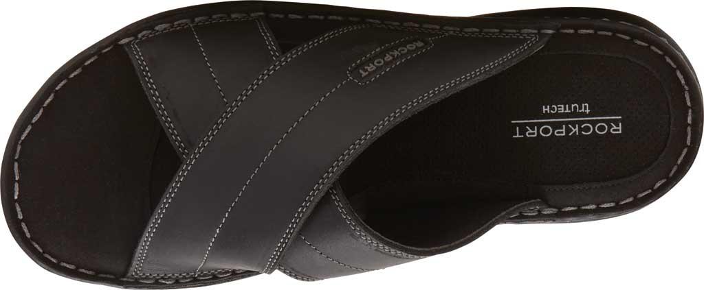 Men's Rockport Darwyn Xband Slide, Black II Leather, large, image 4