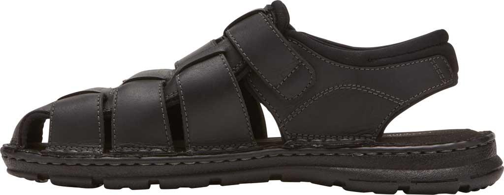 Men's Rockport Darwyn Fishermen Sandal, Black II Leather, large, image 3