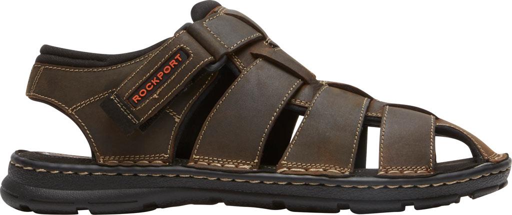 Men's Rockport Darwyn Fishermen Sandal, Brown II Leather, large, image 2