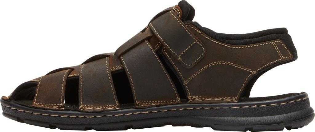 Men's Rockport Darwyn Fishermen Sandal, Brown II Leather, large, image 3