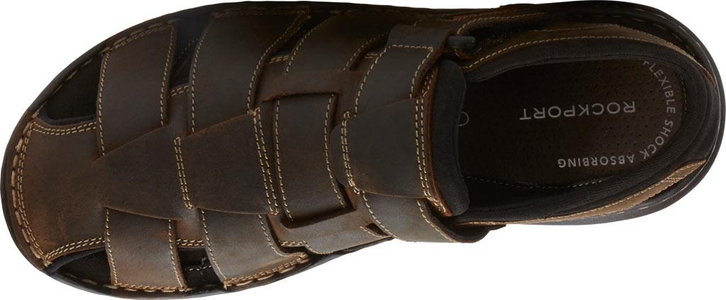 Men's Rockport Darwyn Fishermen Sandal, Brown II Leather, large, image 4