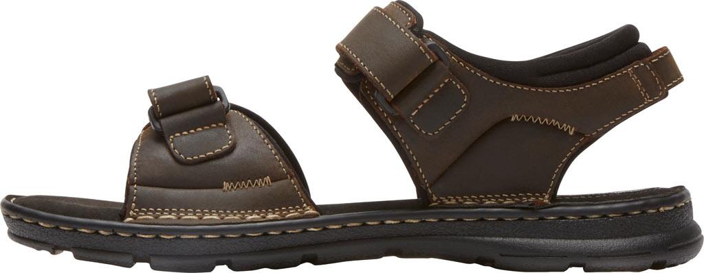 Men's Rockport Darwyn Quarter Strap Sandal, Brown II Leather, large, image 3