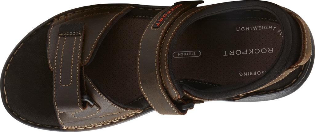 Men's Rockport Darwyn Quarter Strap Sandal, Brown II Leather, large, image 4