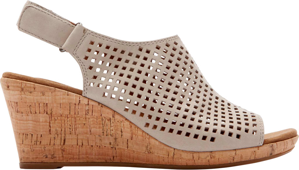 Women's Rockport Briah Perfed Slingback, Taupe Full Grain Leather, large, image 2