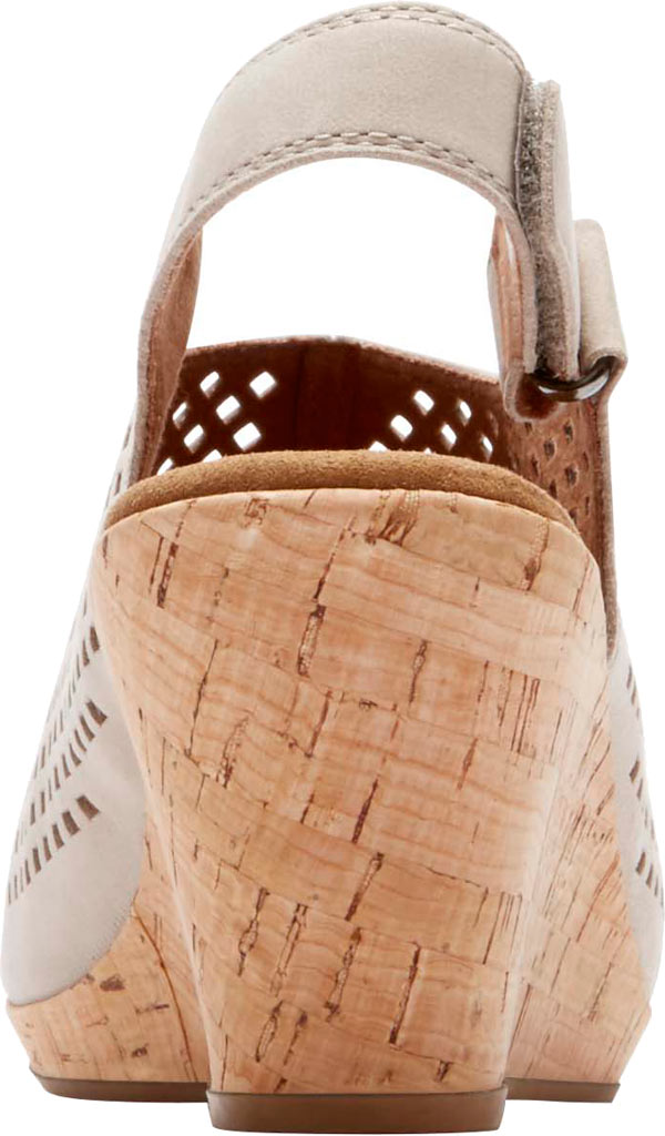 Women's Rockport Briah Perfed Slingback, Taupe Full Grain Leather, large, image 3