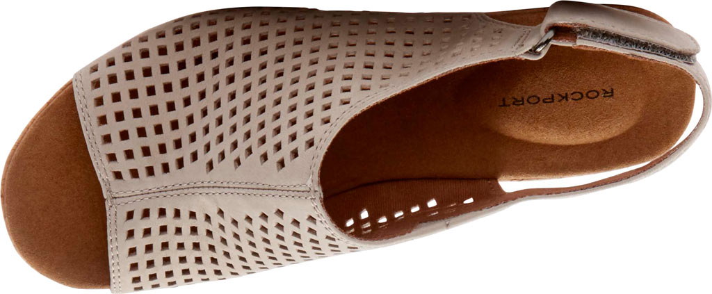 Women's Rockport Briah Perfed Slingback, Taupe Full Grain Leather, large, image 4
