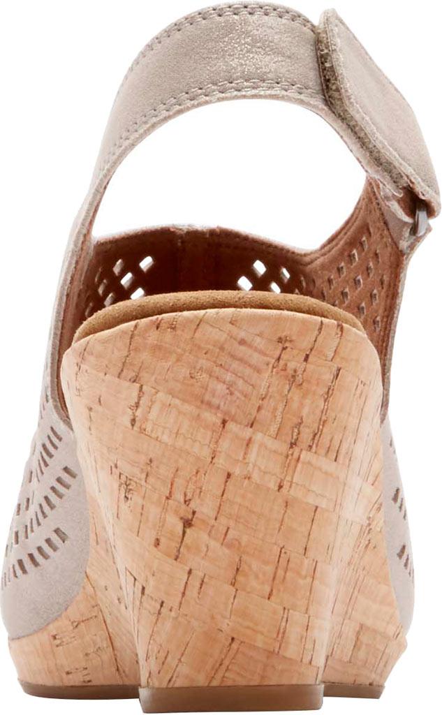 Women's Rockport Briah Perfed Slingback, Multi Khaki Full Grain Leather, large, image 3