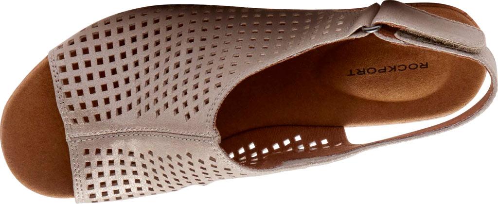 Women's Rockport Briah Perfed Slingback, Multi Khaki Full Grain Leather, large, image 4