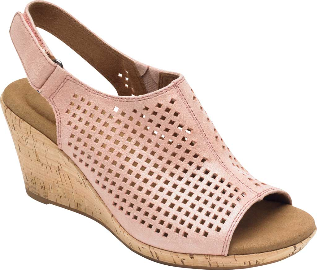 Women's Rockport Briah Perfed Slingback, Pink Metallic Leather, large, image 1