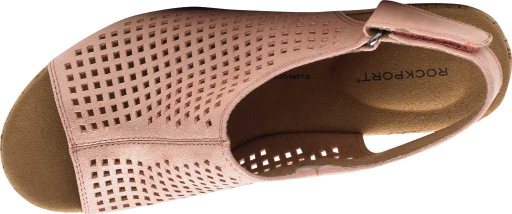 Women's Rockport Briah Perfed Slingback, Pink Metallic Leather, large, image 4