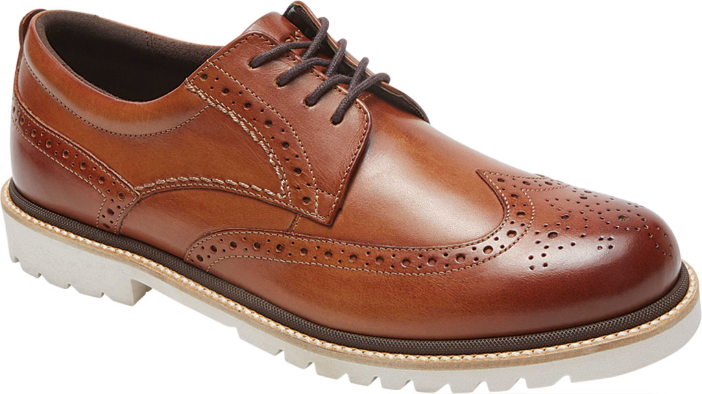 Men's Rockport Marshall Wing Tip Oxford, Cognac Leather, large, image 1