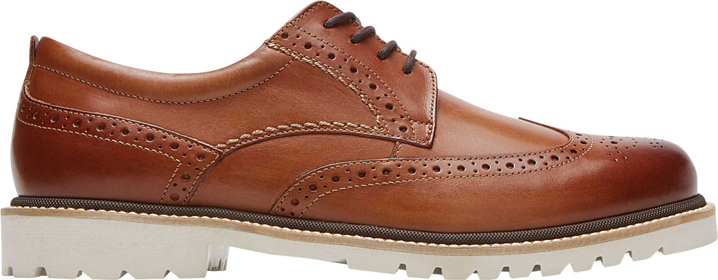 Men's Rockport Marshall Wing Tip Oxford, Cognac Leather, large, image 2