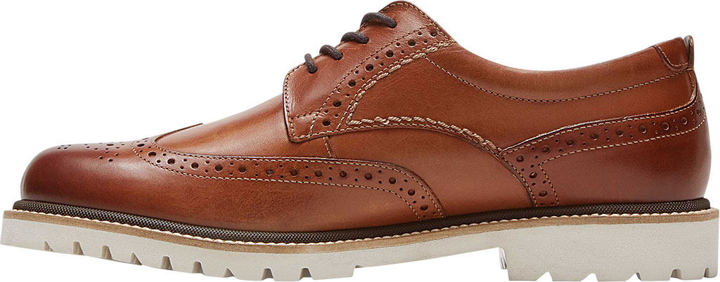 Men's Rockport Marshall Wing Tip Oxford, Cognac Leather, large, image 3