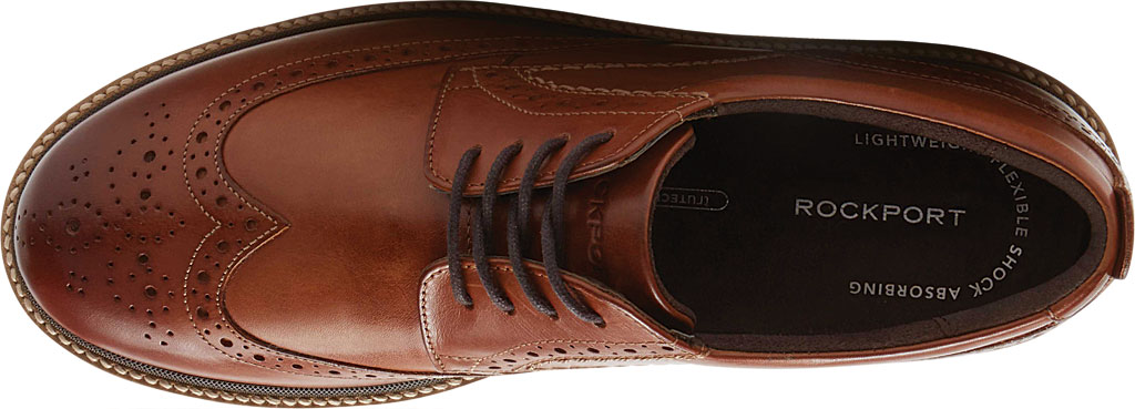 Men's Rockport Marshall Wing Tip Oxford, Cognac Leather, large, image 4