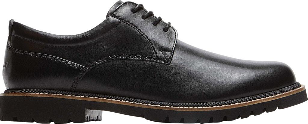 Men's Rockport Marshall Plain Toe Oxford, Black Leather, large, image 2