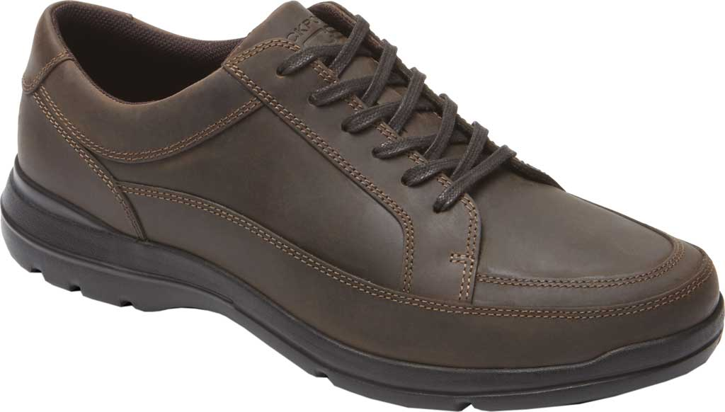 Men's Rockport Junction Point Lace To Toe Oxford, Chocolate Leather, large, image 1