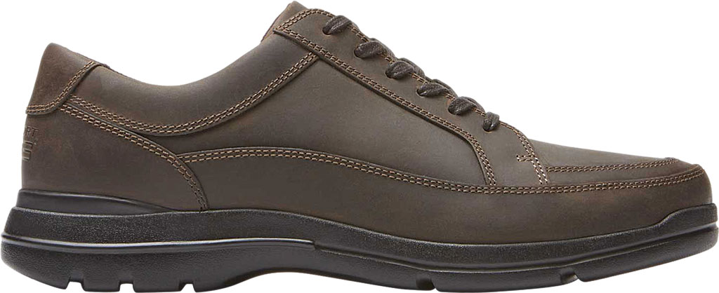 Men's Rockport Junction Point Lace To Toe Oxford, Chocolate Leather, large, image 2