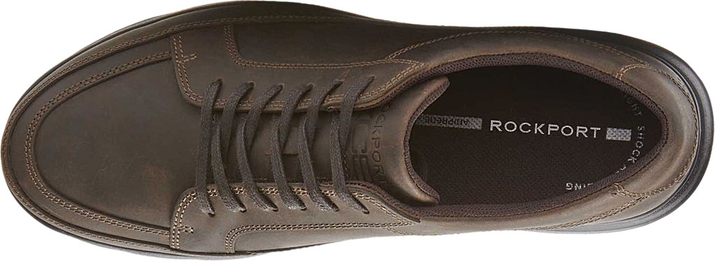 Men's Rockport Junction Point Lace To Toe Oxford, Chocolate Leather, large, image 4