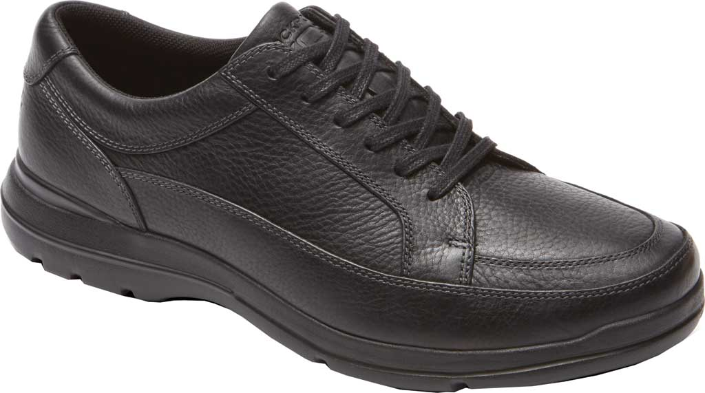 Men's Rockport Junction Point Lace To Toe Oxford, Black Leather, large, image 1