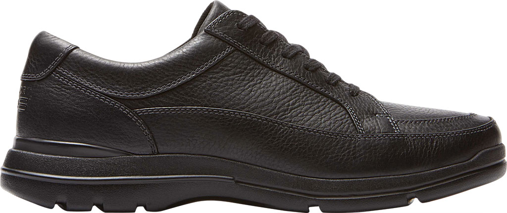 Men's Rockport Junction Point Lace To Toe Oxford, Black Leather, large, image 2