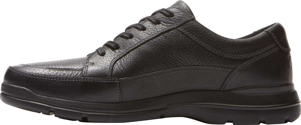 Men's Rockport Junction Point Lace To Toe Oxford, Black Leather, large, image 3