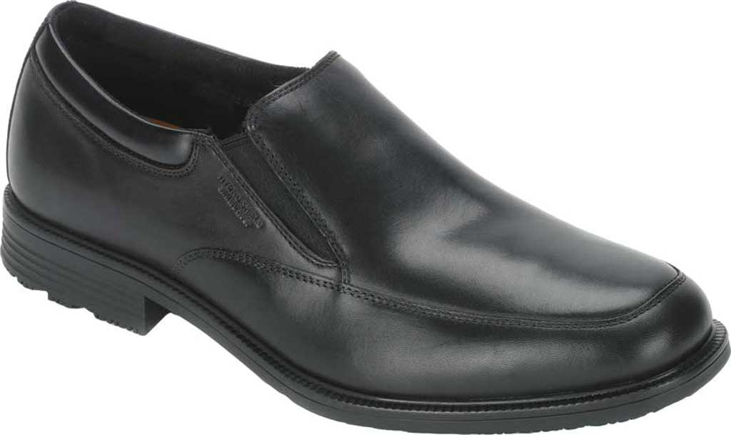 Men's Rockport Lead The Pack Slip On Loafer, Black Waterproof Leather, large, image 1