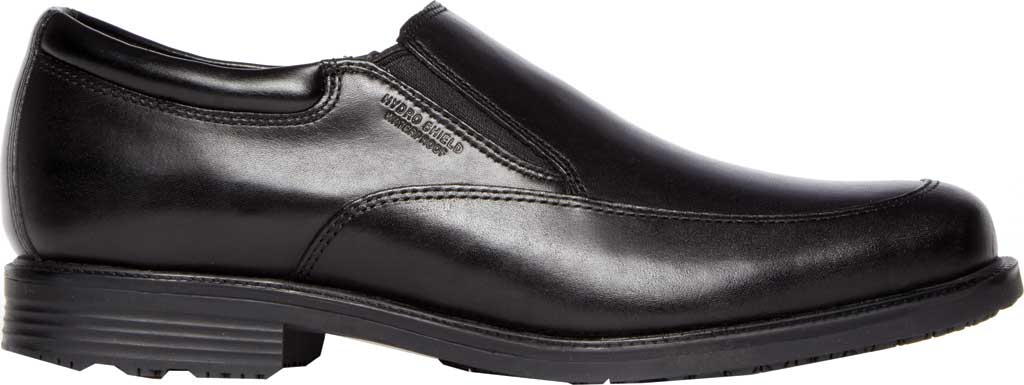 Men's Rockport Lead The Pack Slip On Loafer, Black Waterproof Leather, large, image 2