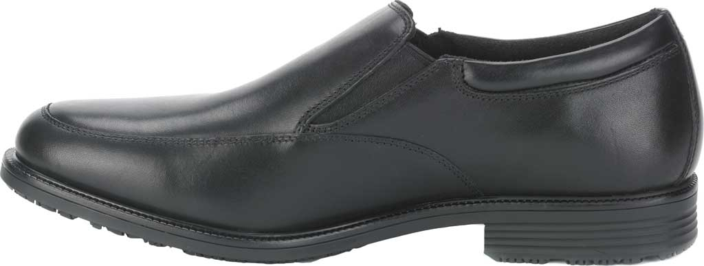 Men's Rockport Lead The Pack Slip On Loafer, Black Waterproof Leather, large, image 3
