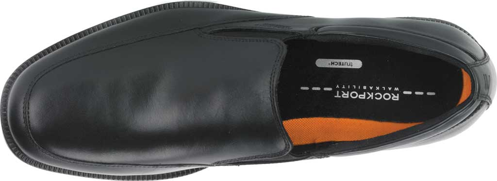 Men's Rockport Lead The Pack Slip On Loafer, Black Waterproof Leather, large, image 4