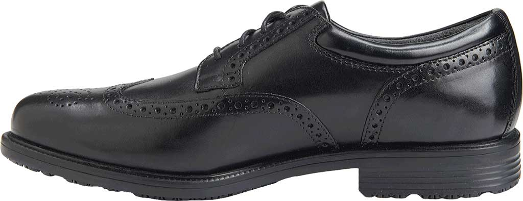 Men's Rockport Lead The Pack Wing Tip, Black Waterproof Leather, large, image 3