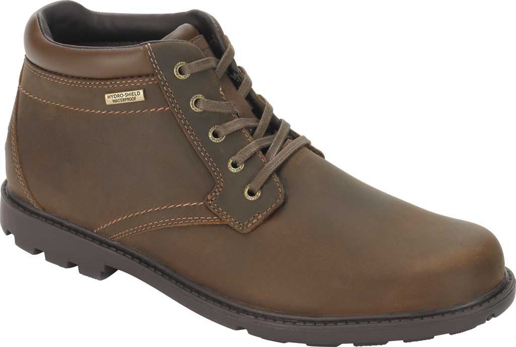 Men's Rockport Storm Surge Plain Toe Boot, Tan Leather, large, image 1