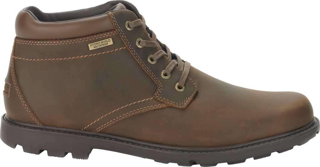 Men's Rockport Storm Surge Plain Toe Boot, Tan Leather, large, image 2