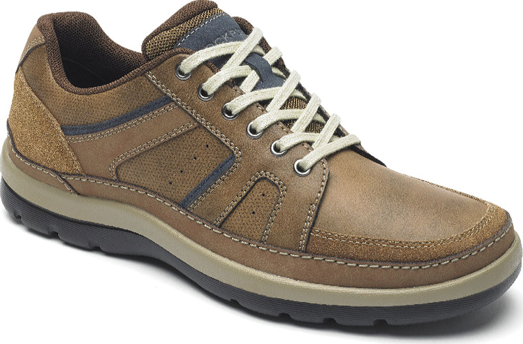 Men's Rockport Get Your Kicks Mudguard Lace Up Sneaker, Tan Embossed Leather, large, image 1