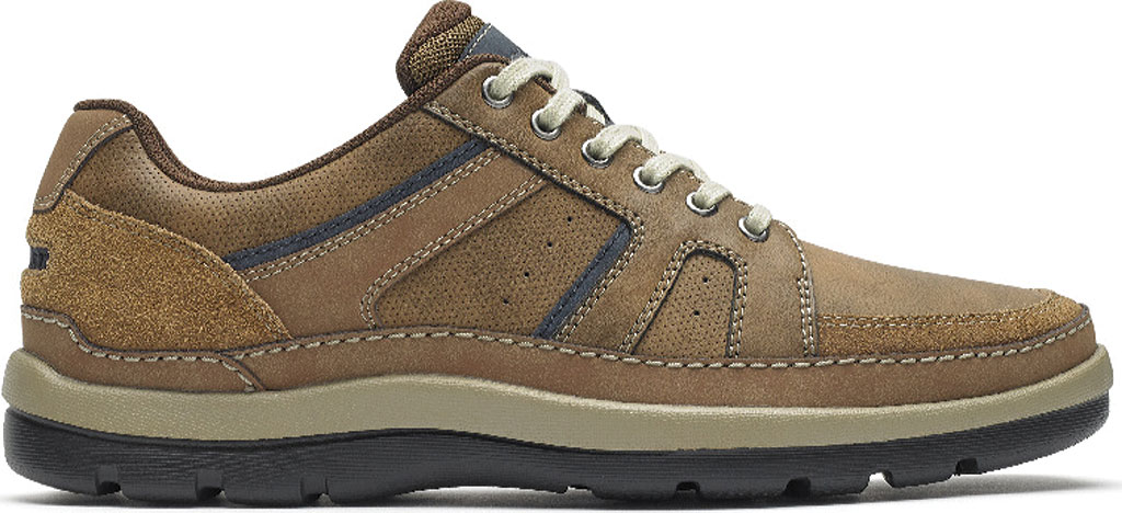 Men's Rockport Get Your Kicks Mudguard Lace Up Sneaker, Tan Embossed Leather, large, image 2