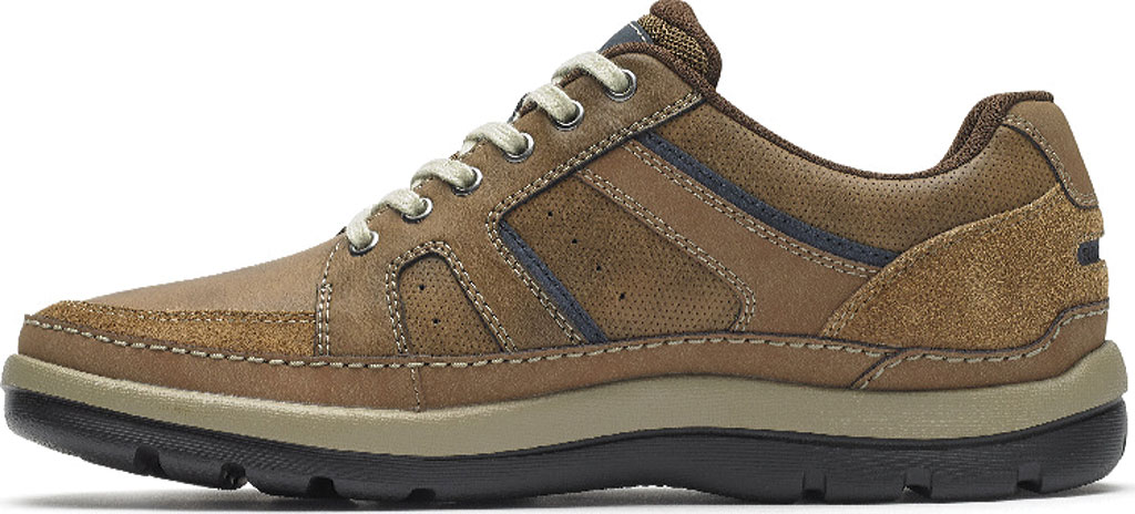 Men's Rockport Get Your Kicks Mudguard Lace Up Sneaker, Tan Embossed Leather, large, image 3