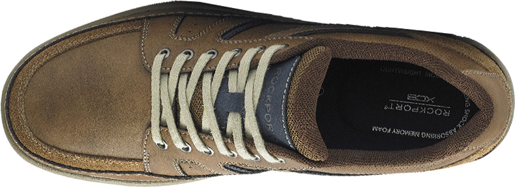 Men's Rockport Get Your Kicks Mudguard Lace Up Sneaker, Tan Embossed Leather, large, image 4