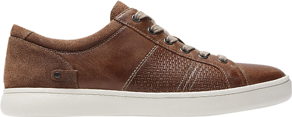 Men's Rockport Colle Tie Sneaker, Tan Leather, large, image 2