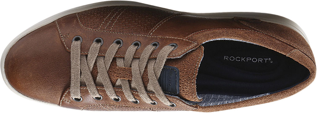 Men's Rockport Colle Tie Sneaker, Tan Leather, large, image 4
